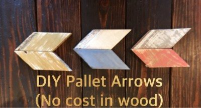 DIY Pallet Wood Arrow's