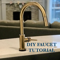 DIY Kitchen Faucet Install